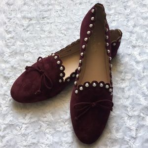 Kate Spade Salford Suede Flats Size 6.5 in Cherry